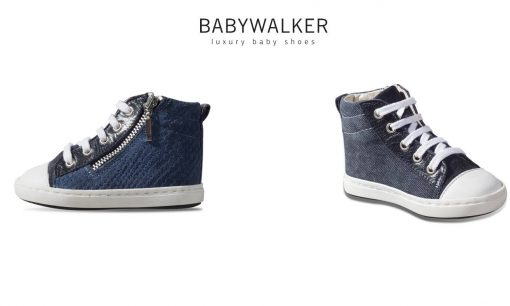 Handmade booties double face with zip by Babywalker