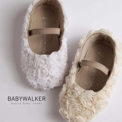 handycrafted flower balarinas! BABYWALKER LUXURY SHOES