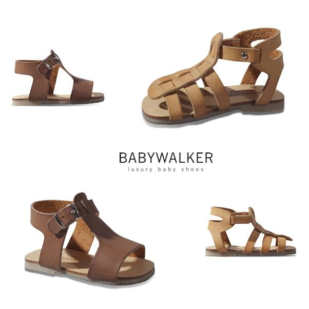 Handamde leather sandals by BABYWALKER