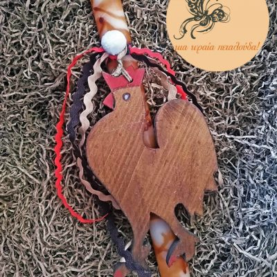 λαμπαδα ξυλινος κοκορας