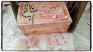 βαπτιστικο σετ νεραιδα ξυλινο κουτι μαρτυρικων