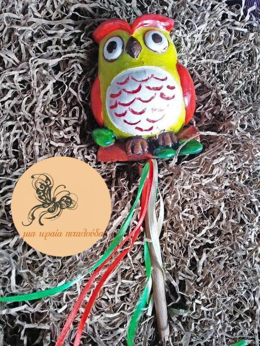 λαμπαδα κερινη κουκουβαγια