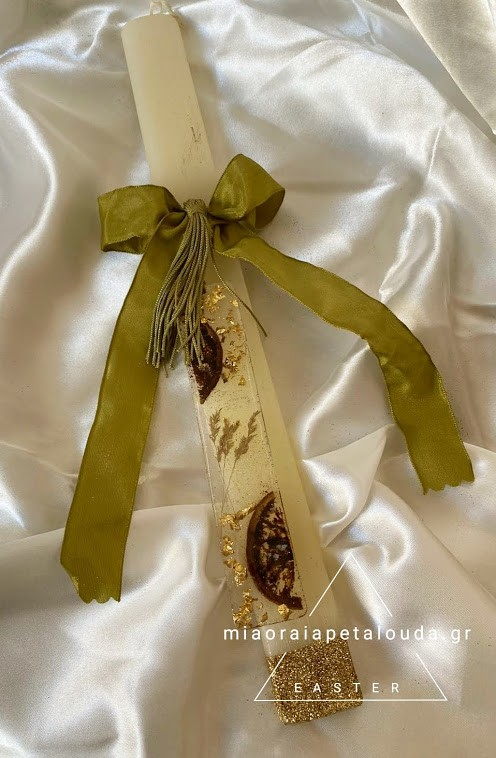 πασχαλινη λαμπαδα χειροποιητος σελιδοδείκτης υγρο γυαλι