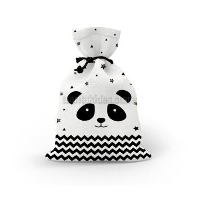 Μπομπονιέρα υφασμάτινο πουγκί με Panda